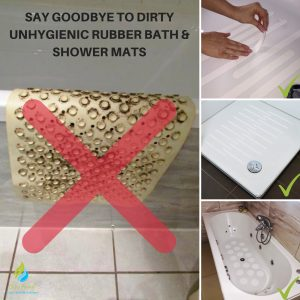 SAY GOOD BYE TO DIRTY UNHIENIC RUBBER BATH MAT SHOWER MATS