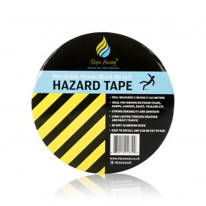 black yellow hazard tape